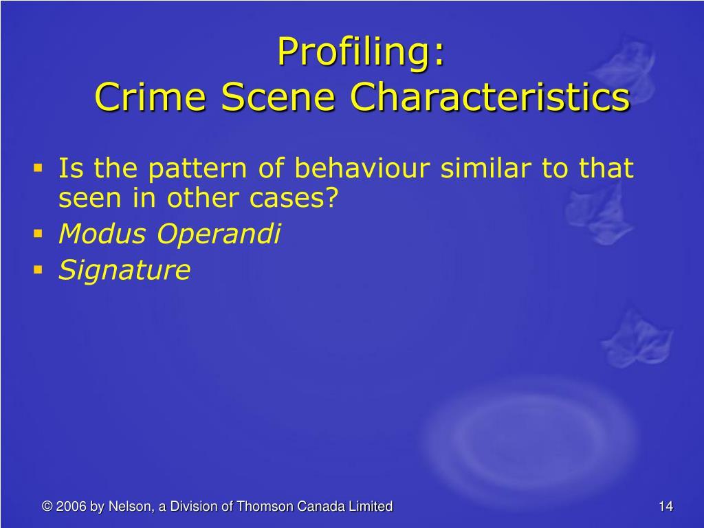 Profiling: