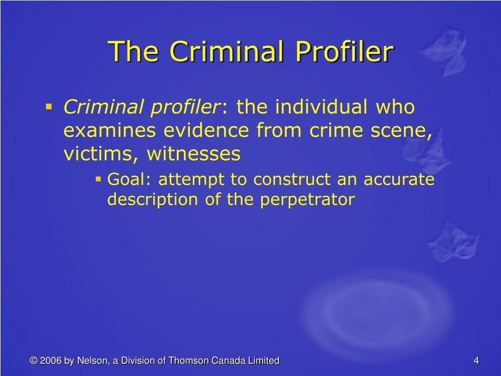 The Criminal Profiler