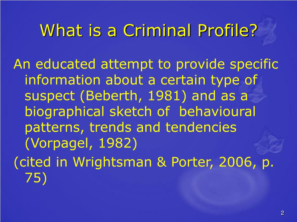 What is a Criminal Profile?