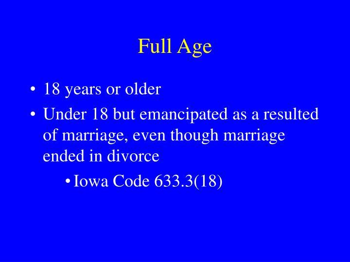 Full Age