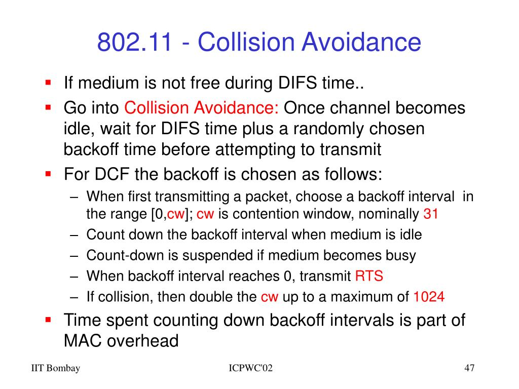 802.11 - Collision Avoidance