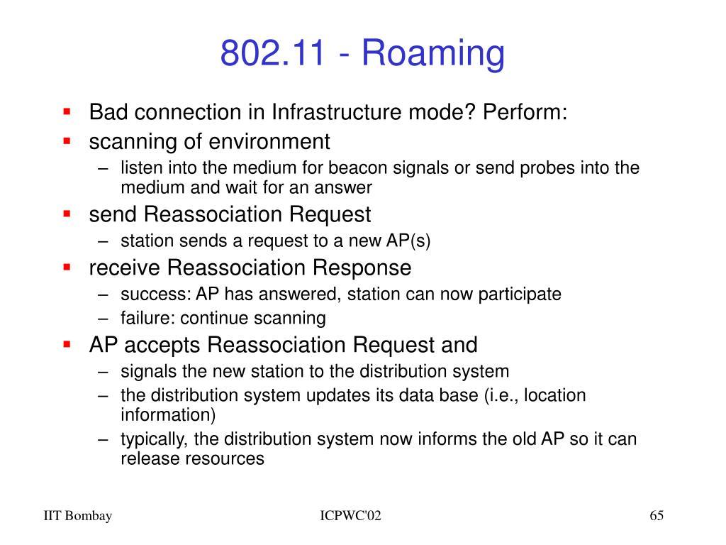 802.11 - Roaming