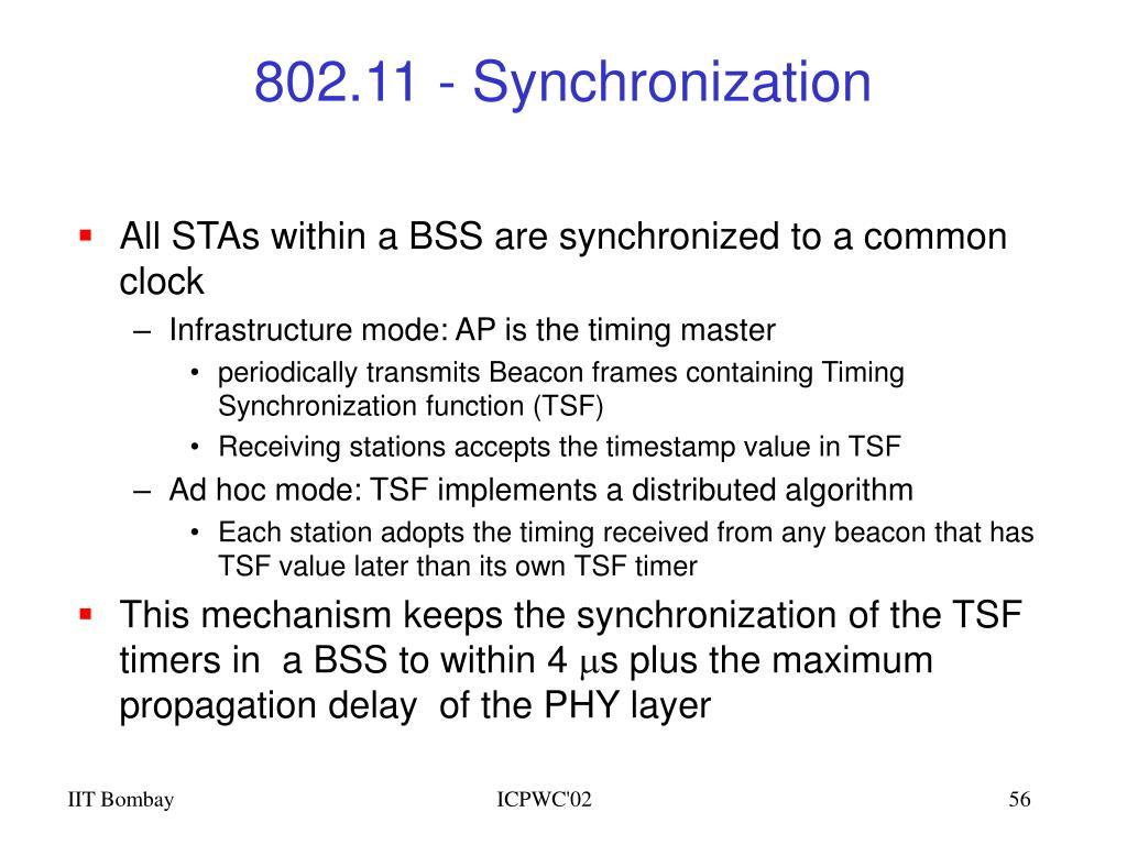 802.11 - Synchronization