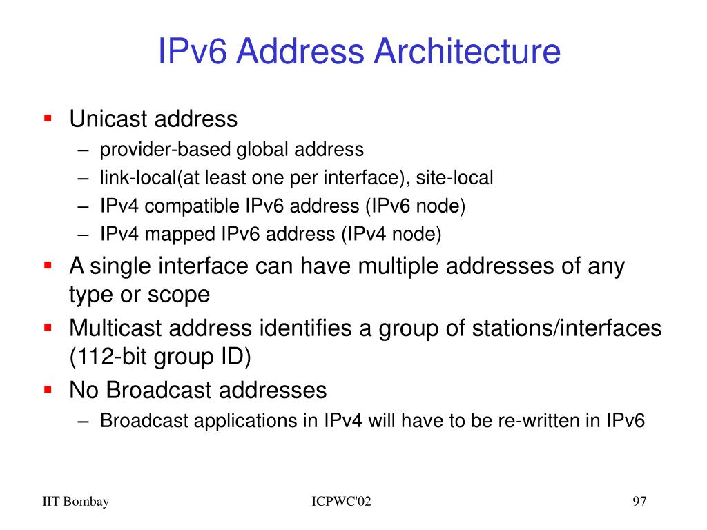 IPv6 Address Architecture