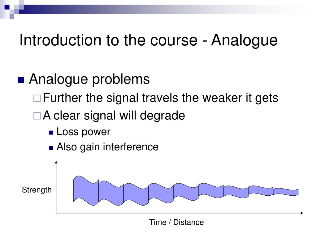 Introduction to the course - Analogue