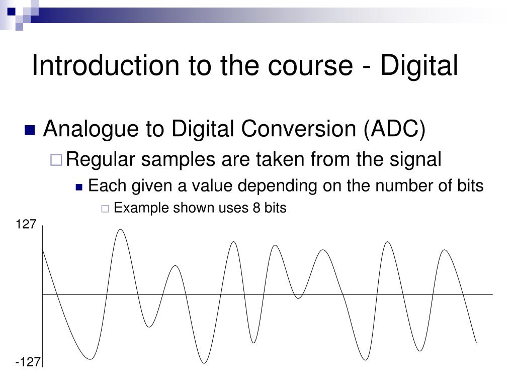 Introduction to the course - Digital