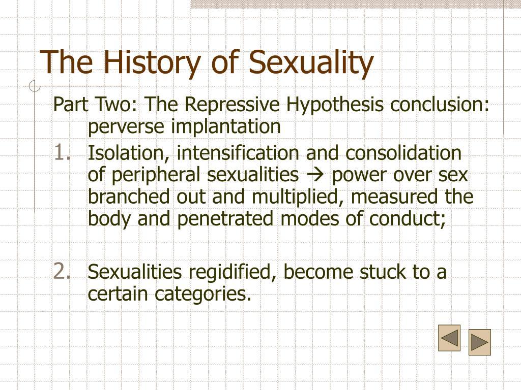 history sexuality volume part repressive hypothesis perverse implantation