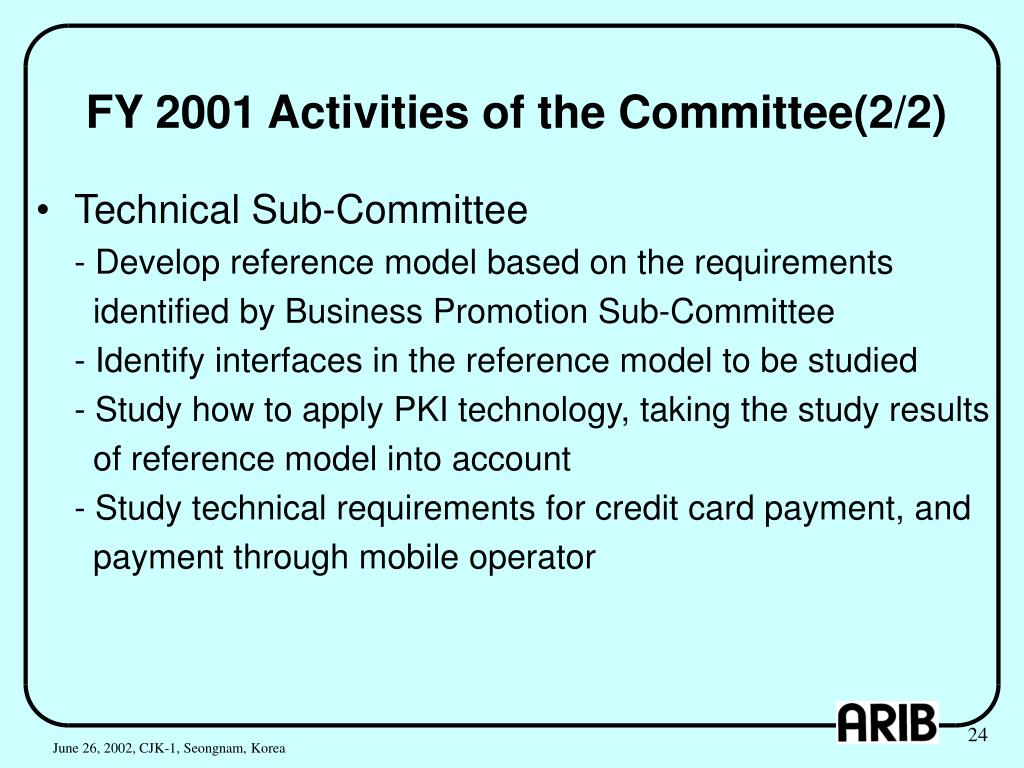 FY 2001 Activities of the Committee(2/2)
