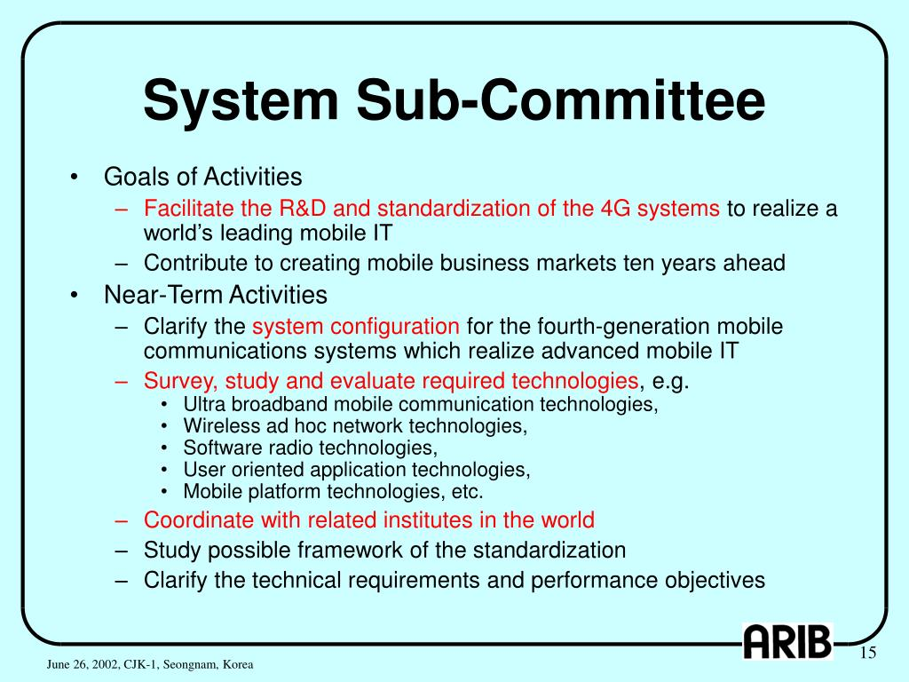 System Sub-Committee