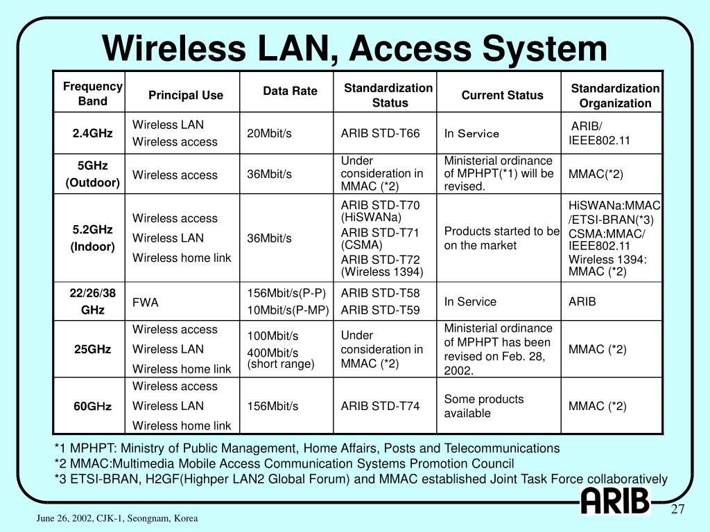 Wireless LAN, Access System