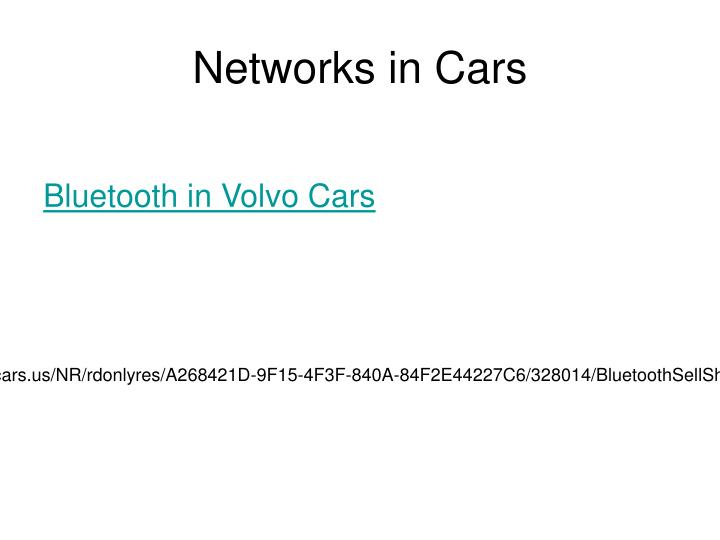Networks in Cars