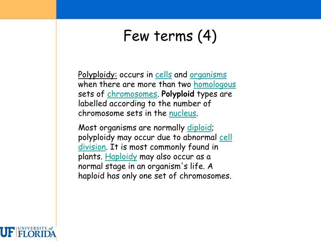 Few terms (4)