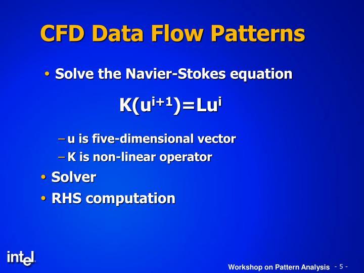 CFD Data Flow Patterns