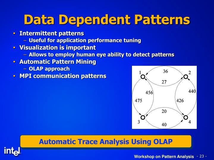 Automatic Trace Analysis Using OLAP