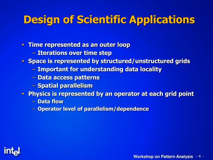 Design of Scientific Applications