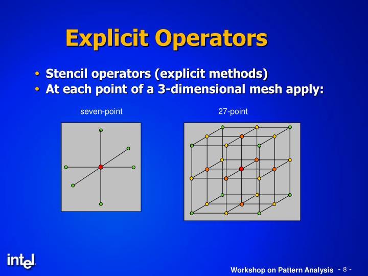Explicit Operators