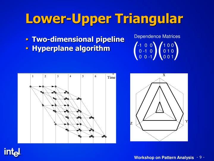 Lower-Upper Triangular