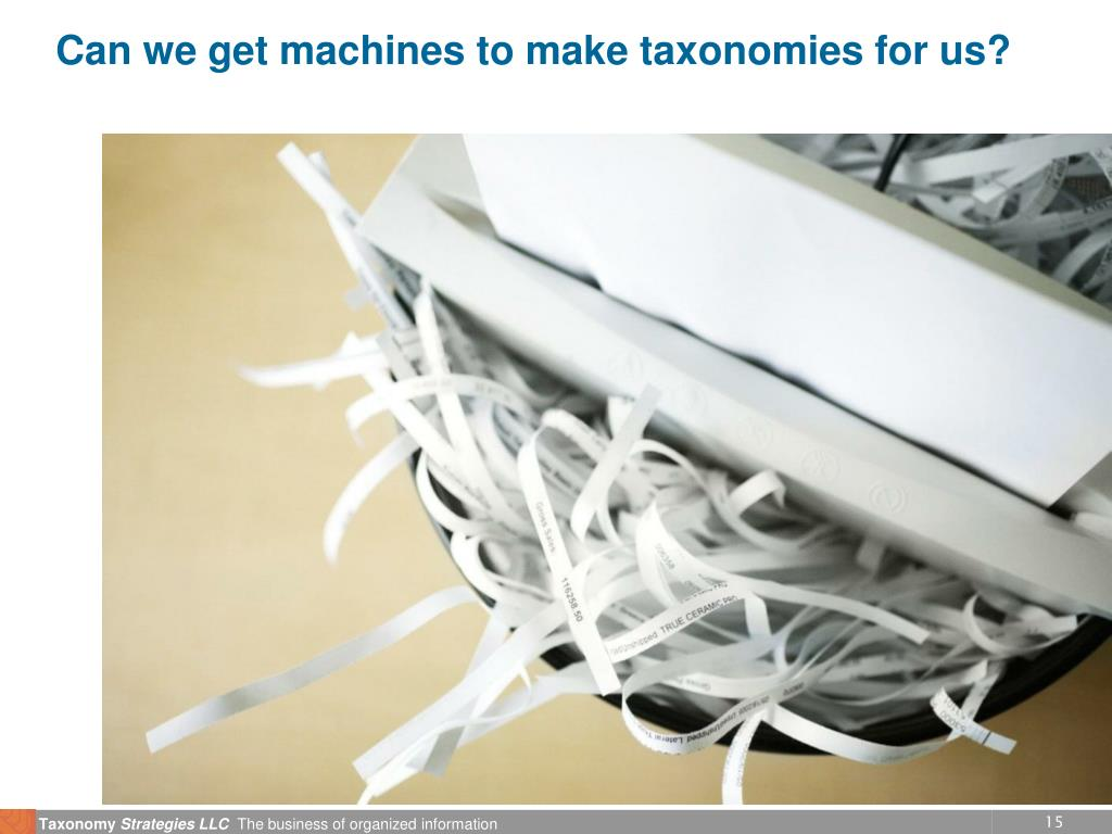 Can we get machines to make taxonomies for us?