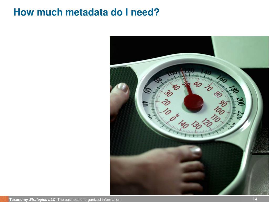 How much metadata do I need?