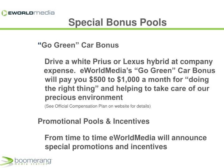 Special Bonus Pools