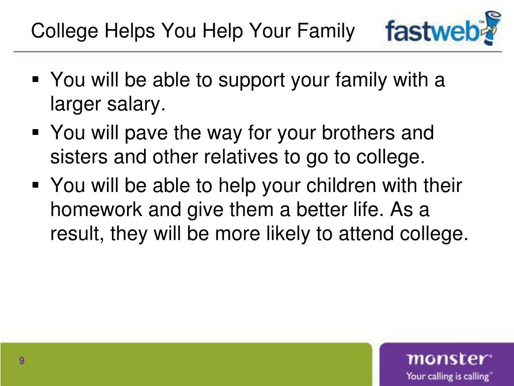 College Helps You Help Your Family