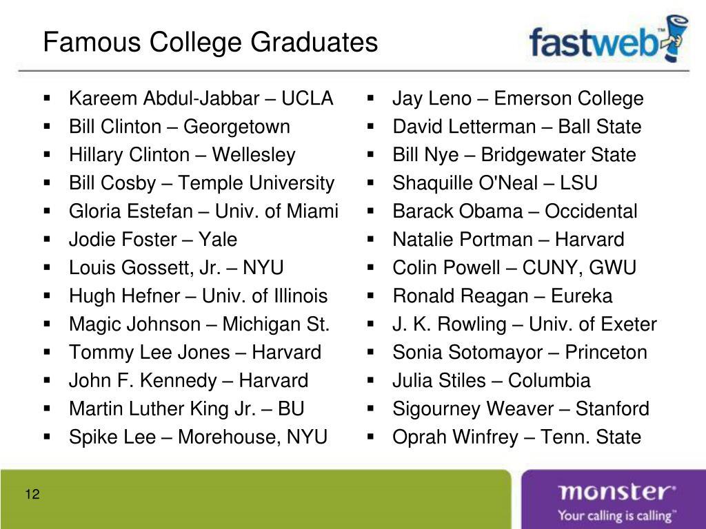 Famous College Graduates