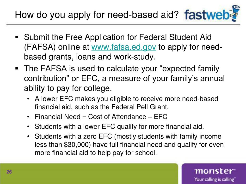 How do you apply for need-based aid?
