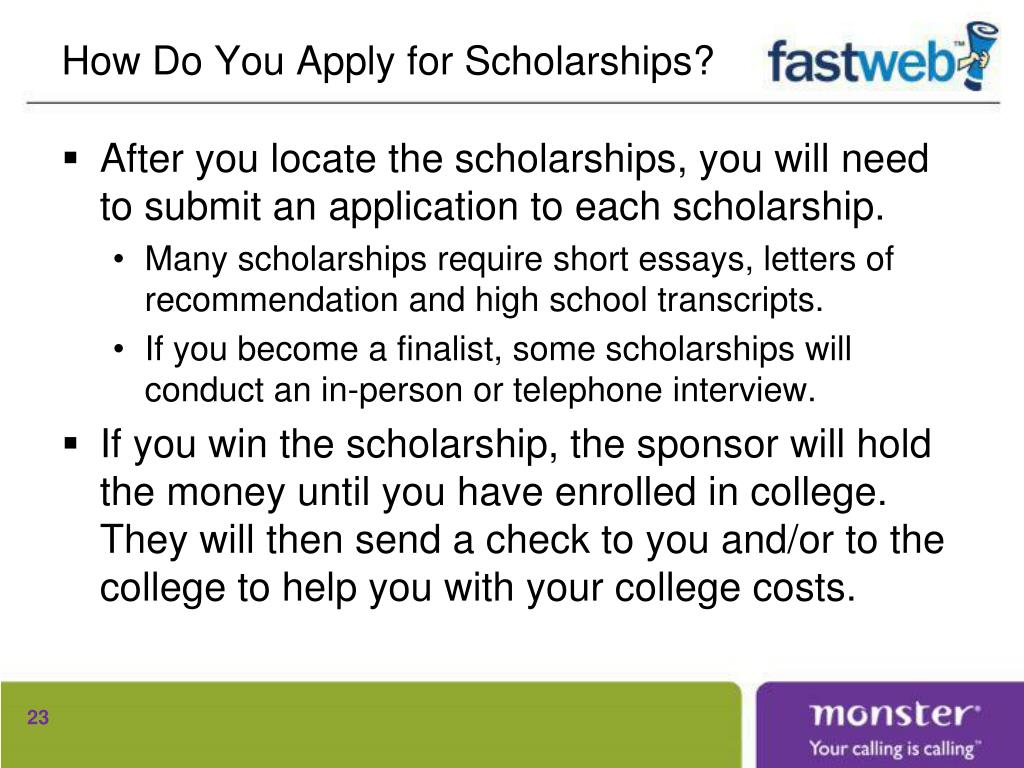 How Do You Apply for Scholarships?