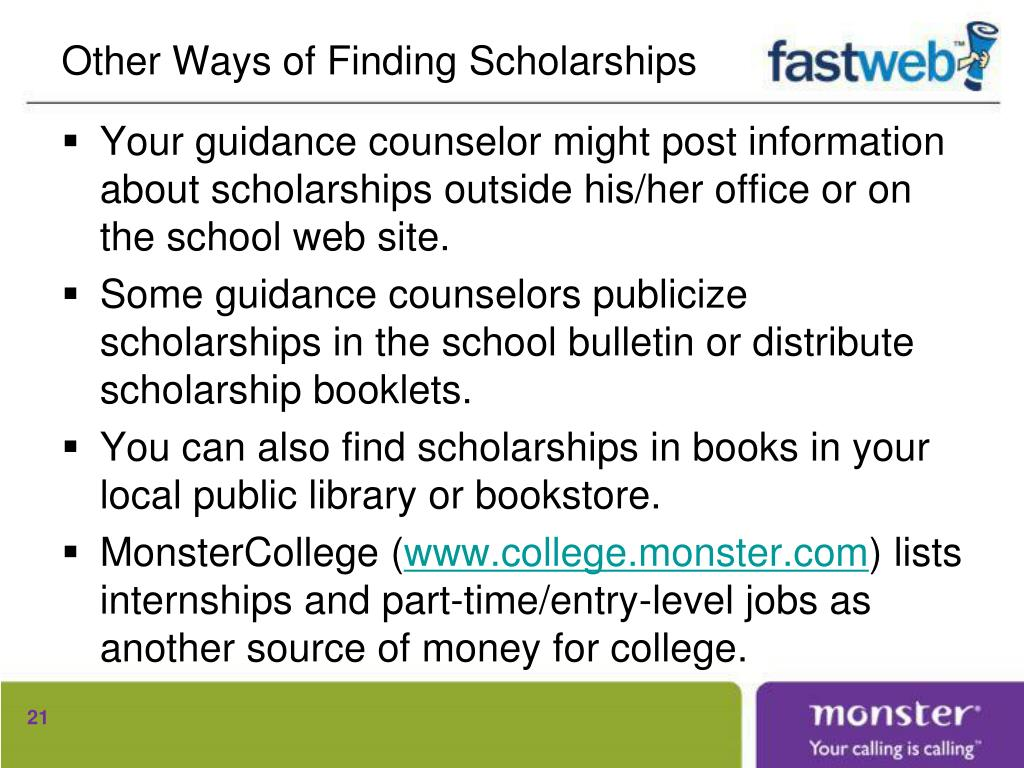 Other Ways of Finding Scholarships