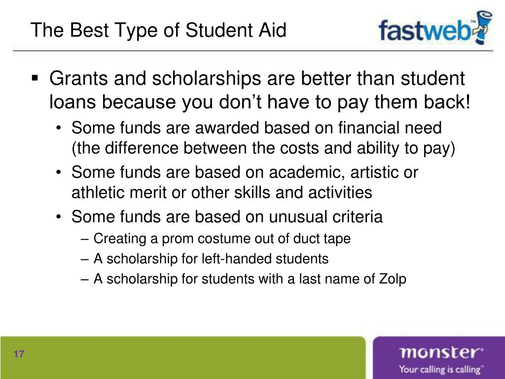 The Best Type of Student Aid