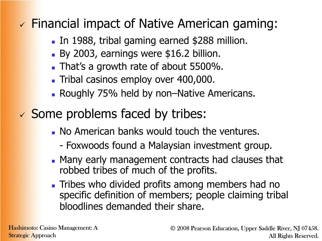 Financial impact of Native American gaming: