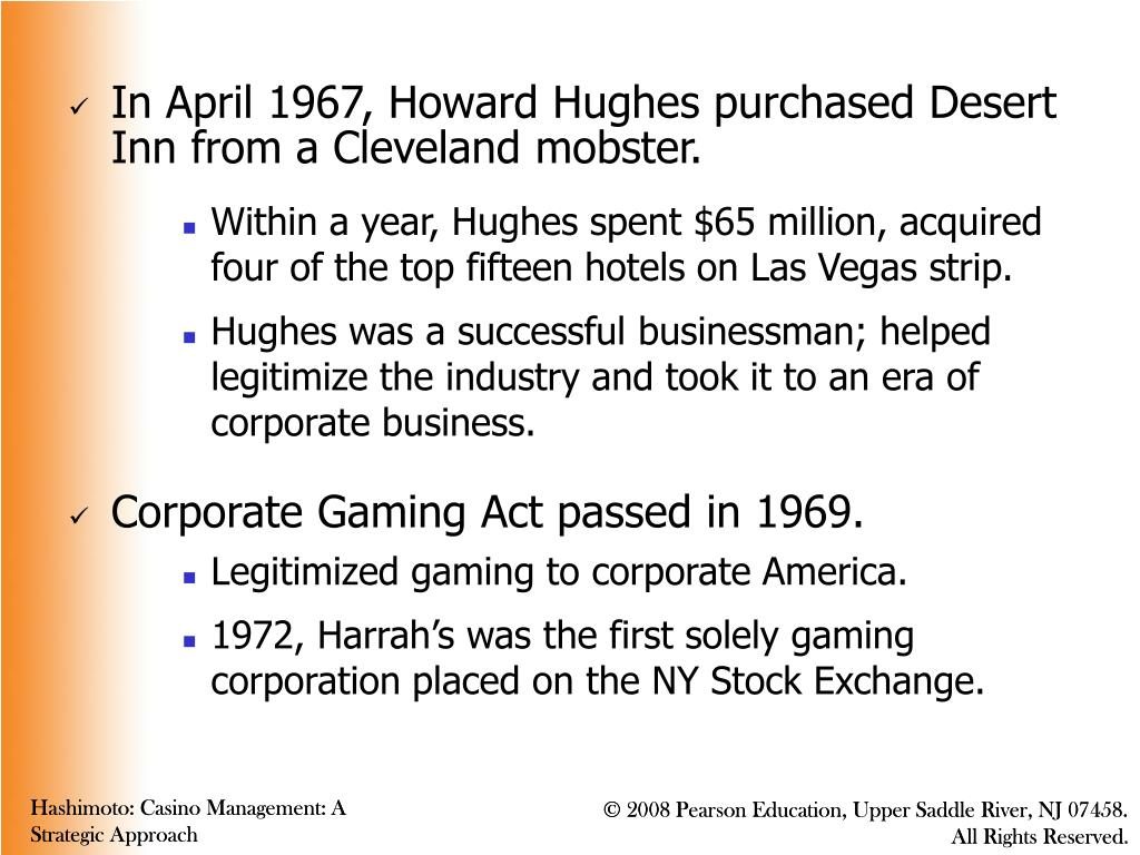 In April 1967, Howard Hughes purchased Desert Inn from a Cleveland mobster.