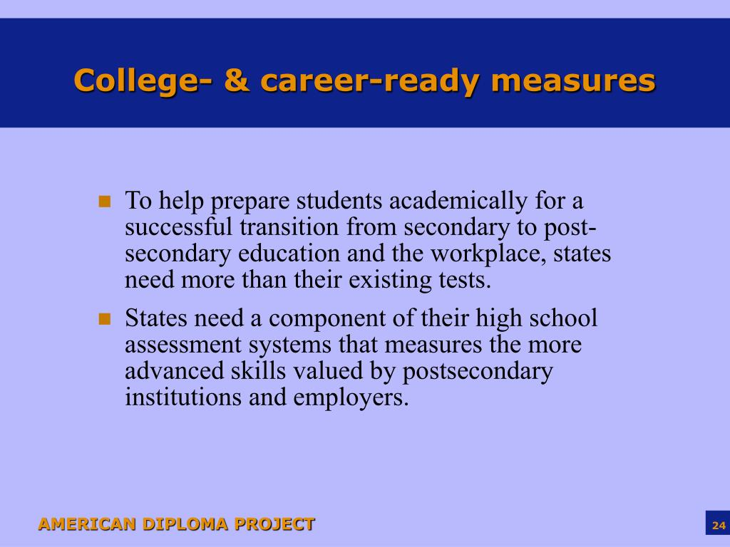 College- & career-ready measures