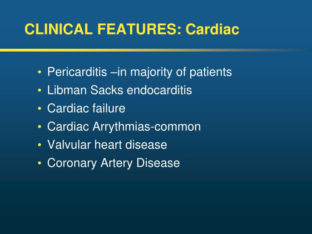 CLINICAL FEATURES: Cardiac