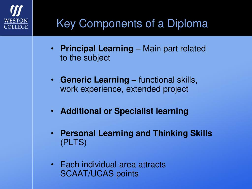 Key Components of a Diploma