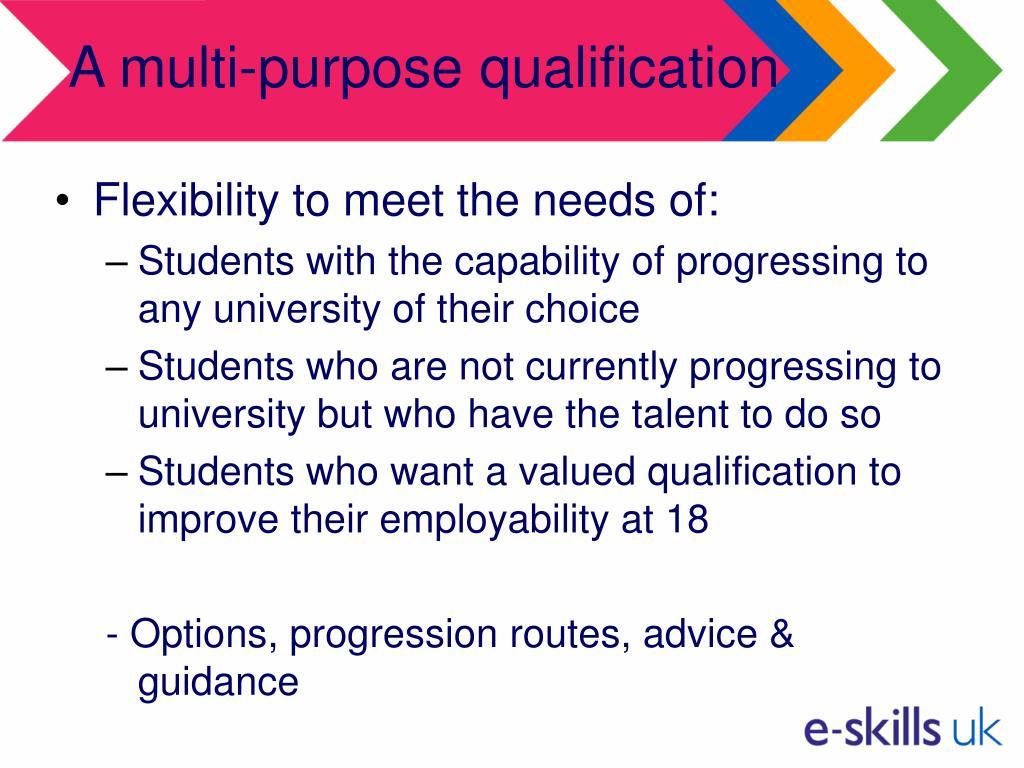 A multi-purpose qualification