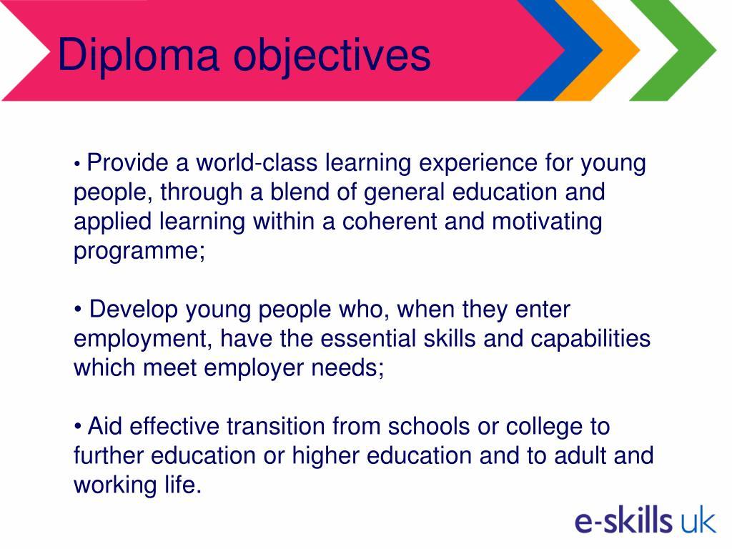 Diploma objectives