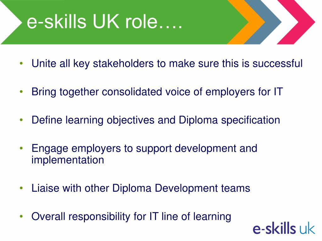 e-skills UK role….