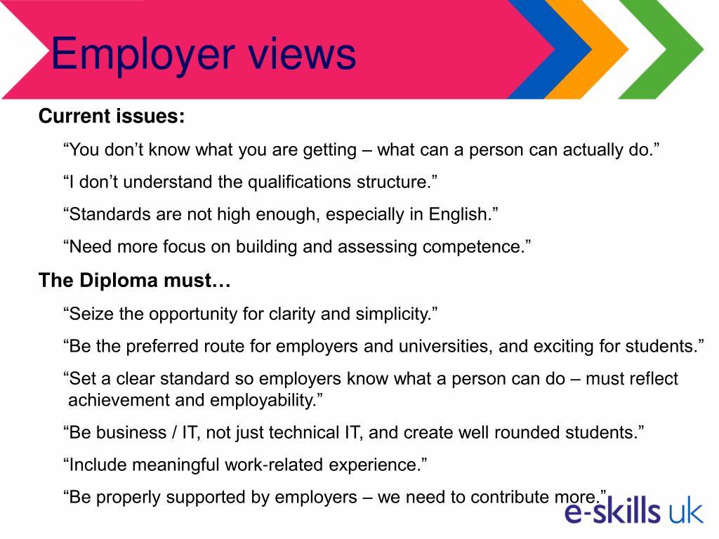 Employer views