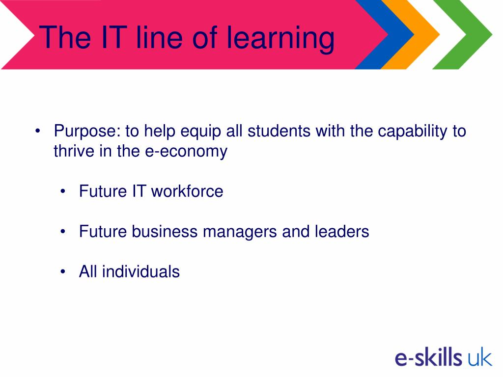 The IT line of learning