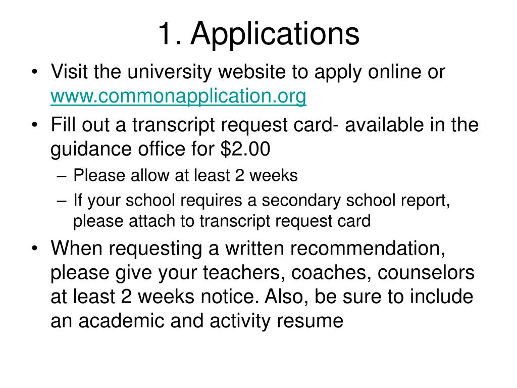 1. Applications