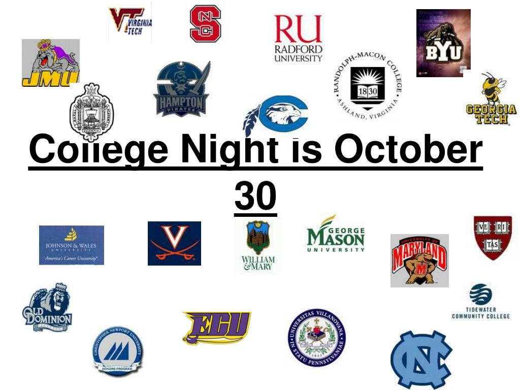 College Night is October 30