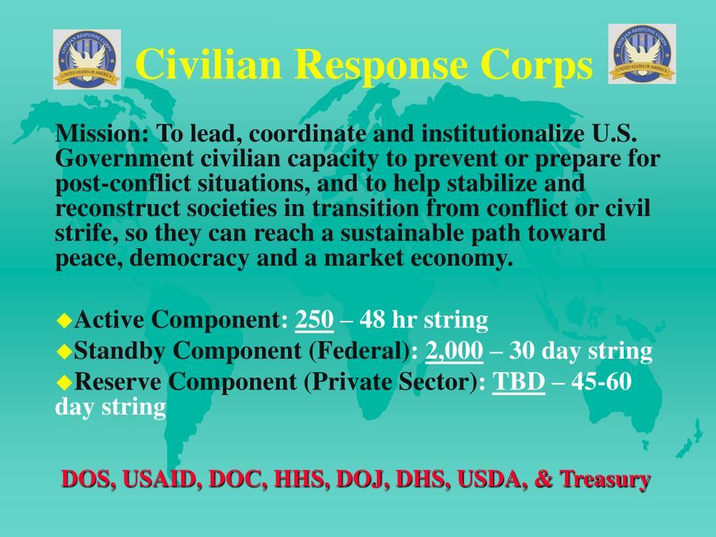 Civilian Response Corps