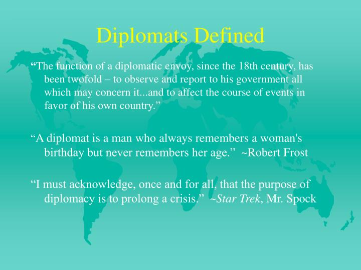 Diplomats defined