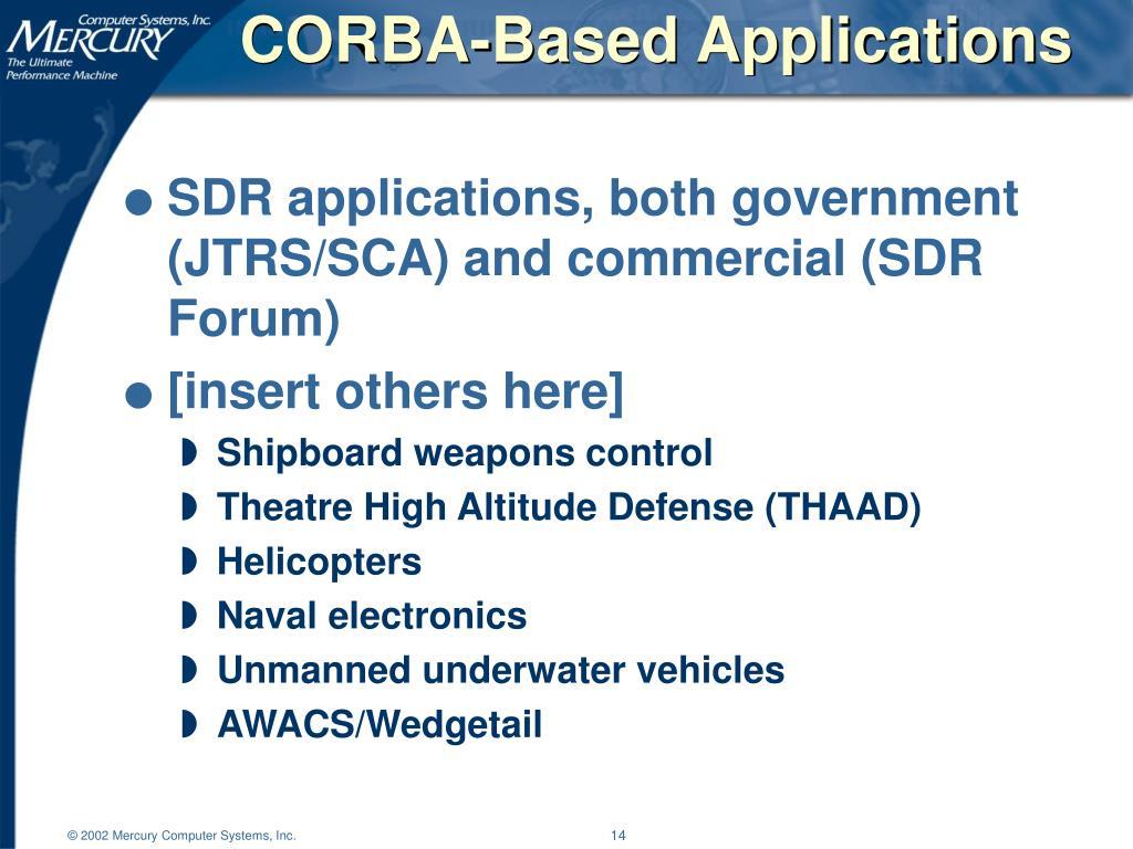 CORBA-Based Applications
