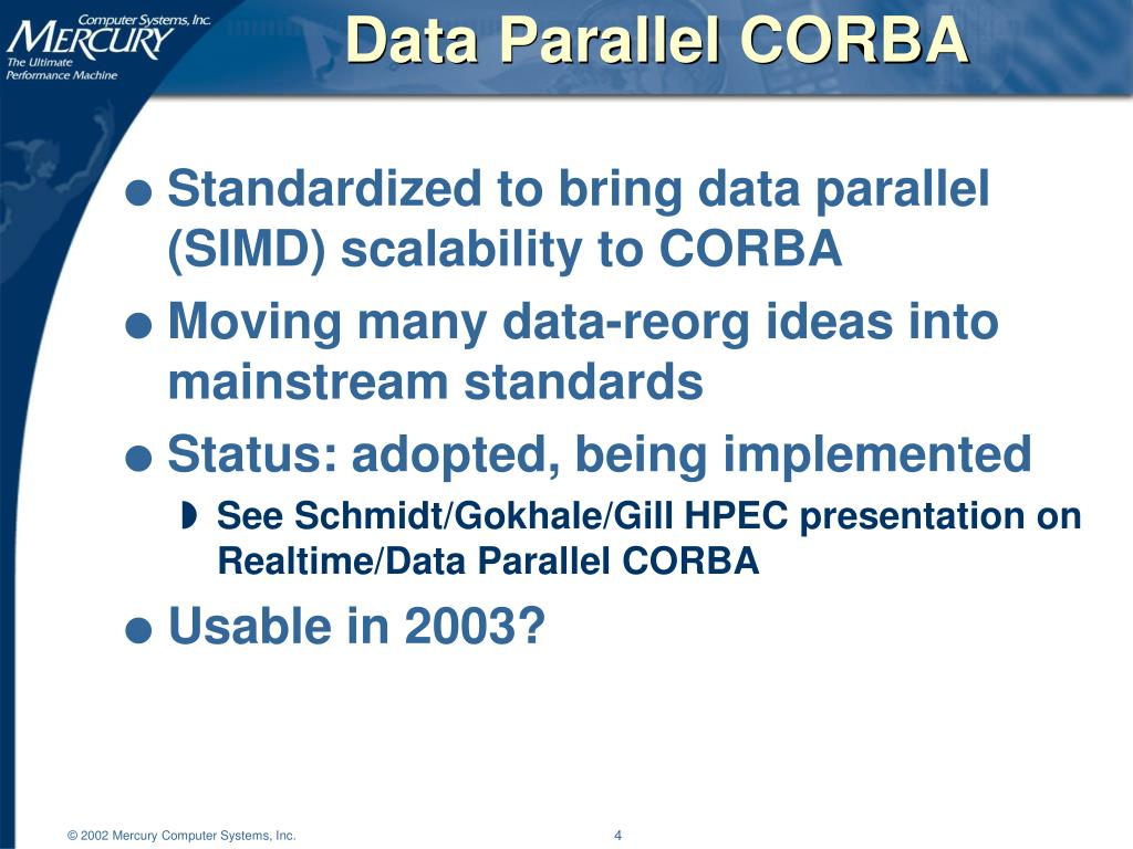 Data Parallel CORBA