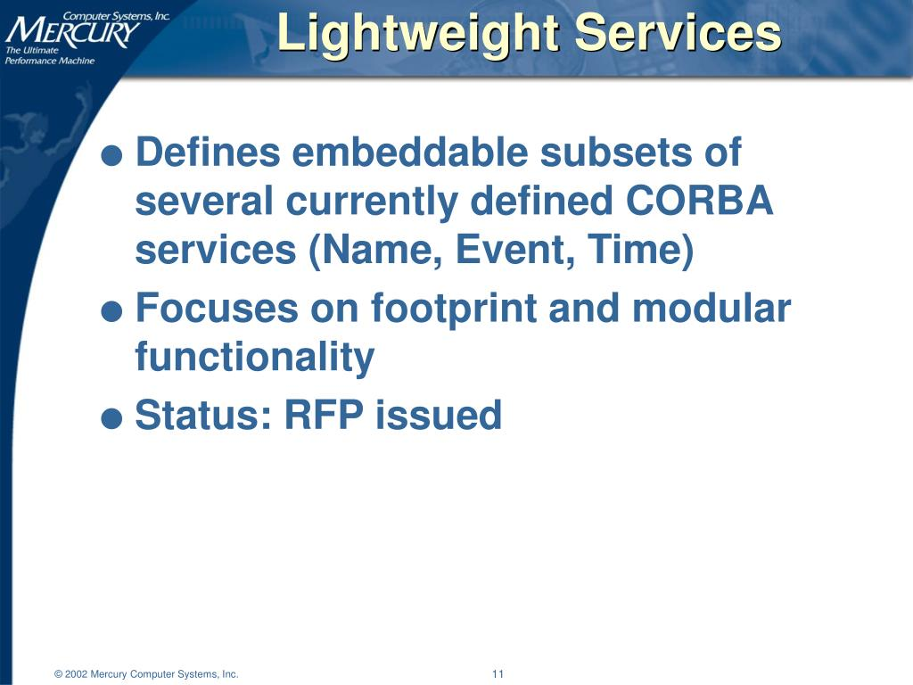 Lightweight Services