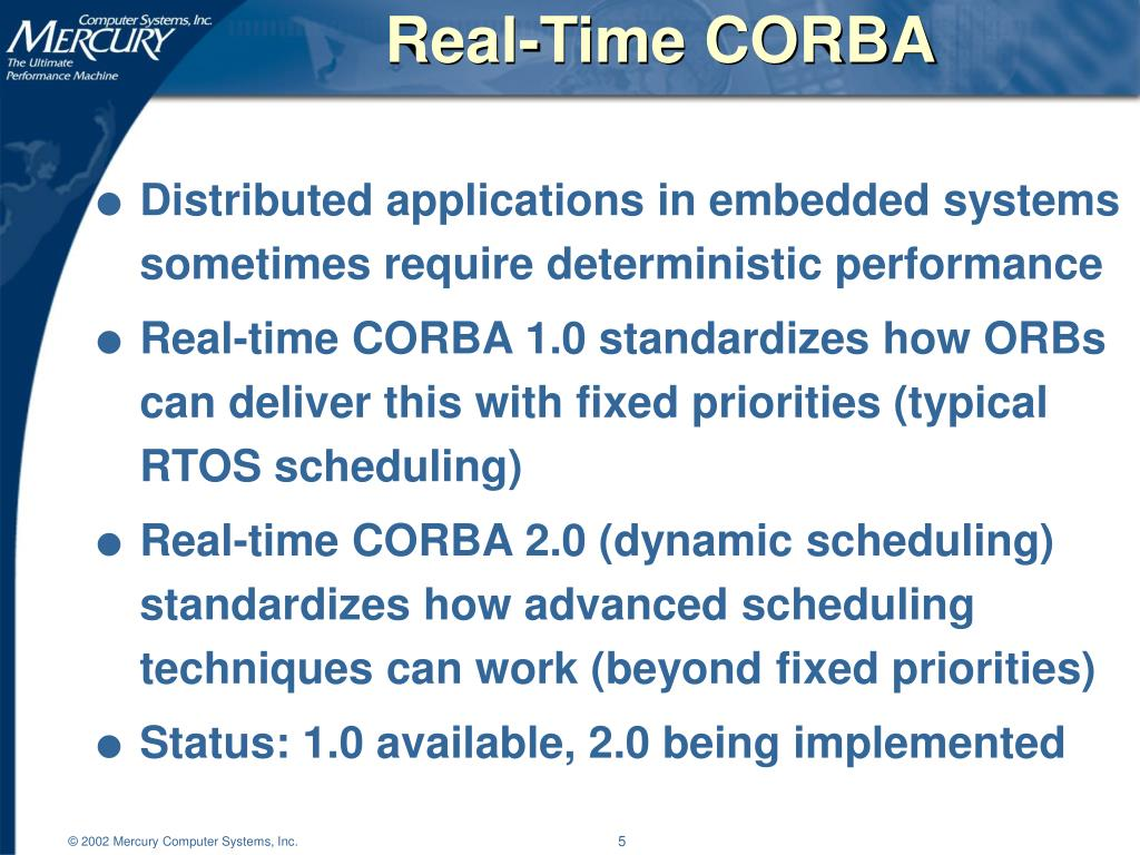 Real-Time CORBA