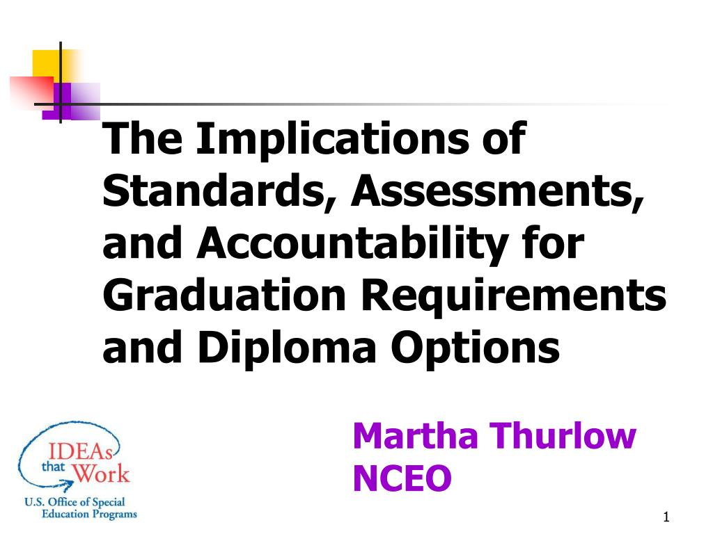 The Implications of Standards, Assessments, and Accountability for Graduation Requirements and Diploma Options