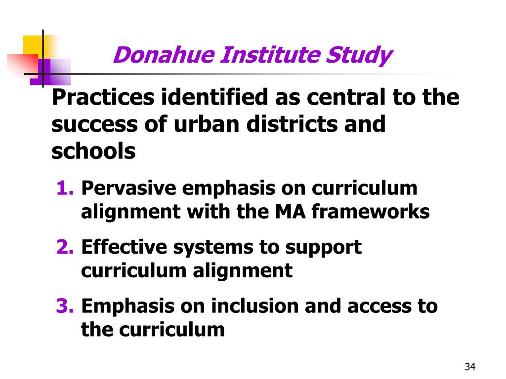 Donahue Institute Study